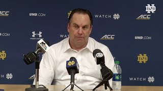 @NDmbb Mike Brey Post-Game Press Conference vs. Pittsburgh (2018)