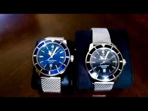 How to spot a fake Breitling watch.(Side by side comparison)