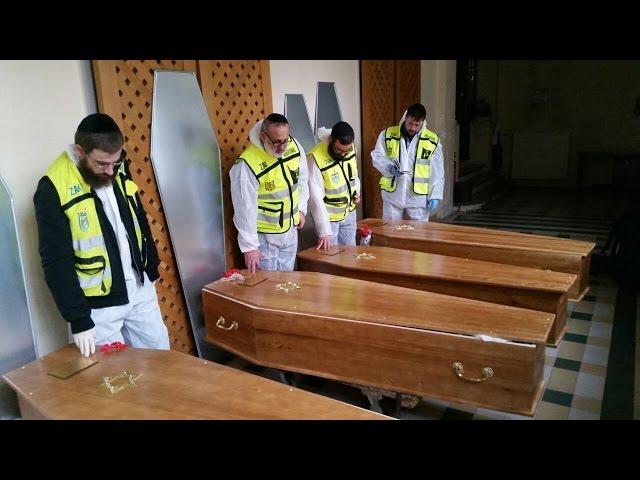ZAKA Transfer Victims from France to Israel