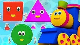 Bob xe lửa | Năm hình chữ nhỏ | nhảy vần cho trẻ em | Bob The Train | Five Little Shapes Song