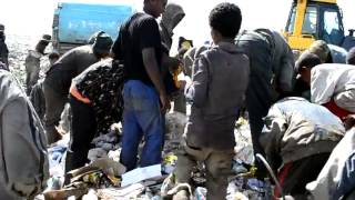Addis Ababa: Children Eating From Garbage Truck