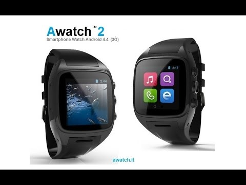 """Awatch 2"" Android 4.4 Smart watch phone (3G) & camera"