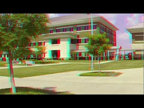3D footage of Bossier Parish Community College