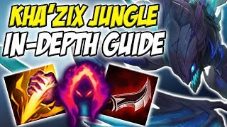 GUIDE ON HOW TO PLAY KHA'ZIX JUNGLE IN SEASON 8! INSANE CARRY POTENTIAL - League of Legends