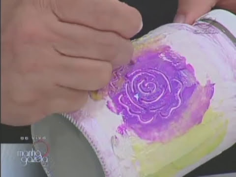 Vidro com textura transparente - Pintura - Artesanato - Acrilex