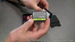 eAccess High Capacity Battery Kit for BlackBerry Storm Video Overview