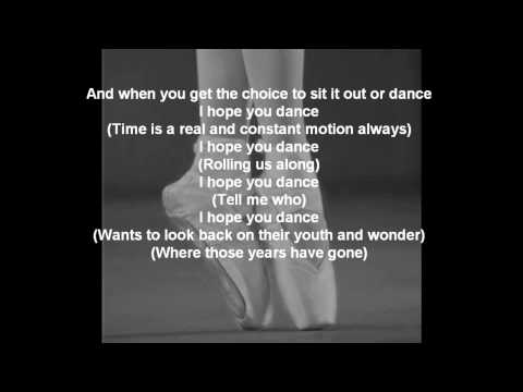 Lee Ann Womack - I Hope You Dance lyrics