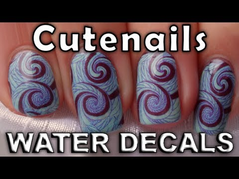 Water Decals, aqua sticker tattoo nail art