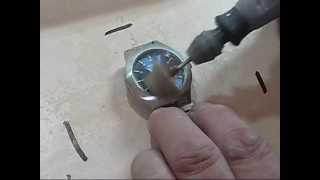 Watch Crystal Glass Scratch Removal Polishing using the kit by ians-polishing-kits on ebay uk