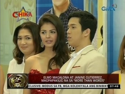 "24Oras: Elmo Magalona at Janine Gutierrez, magpapakilig na sa ""More Than Words"""