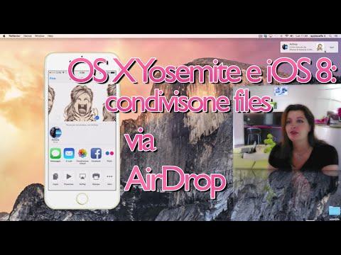 OS X Yosemite e iOS 8: condividere files via AirDrop!