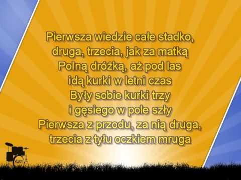 Dla Dzieci  Były Sobie Kurki Trzy - Z Linią Melodyczną ( Www.letsing.pl )