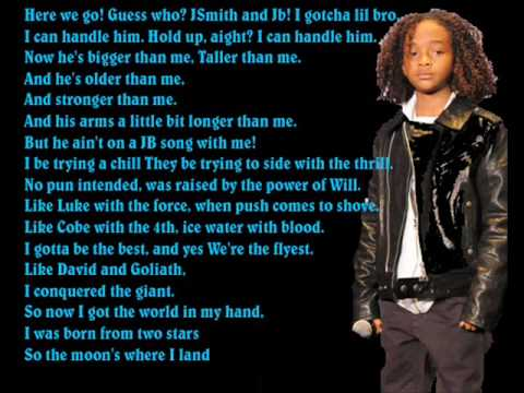 Justin bieber ft Jaden Smith - Never say never with lyrics on screen Video