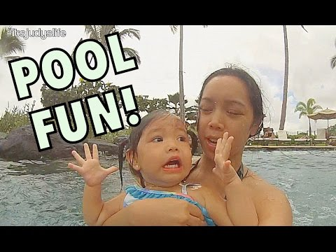 FUN IN THE POOL! - October 14, 2014 - itsJudysLife Daily Vlog