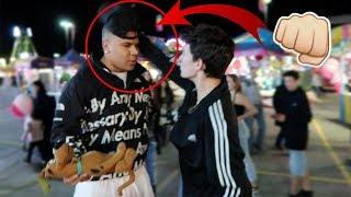 CRAZY FAN TRIES TO FIGHT ME... THIS IS WHAT HAPPENS!