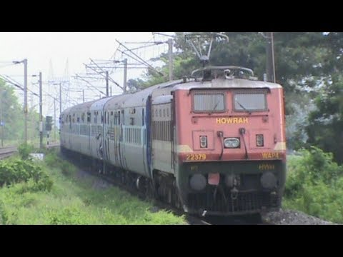 Just Watch The Stunning Acceleration By Wap-4 With 24 Coaches Kalka Superfast Mail!! video