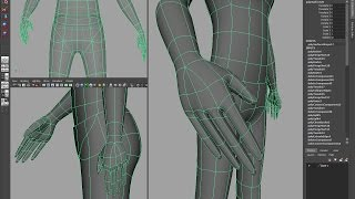Maya Character modeling tutorial, part 2 - Hands and Feet