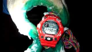 Снеговик сожрал Casio G-Shock G-7900 Snowman ate test crash part 1