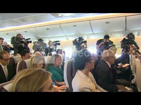 POPE RETURNS FROM KOREA HOLDS PRESSER ON PLANE