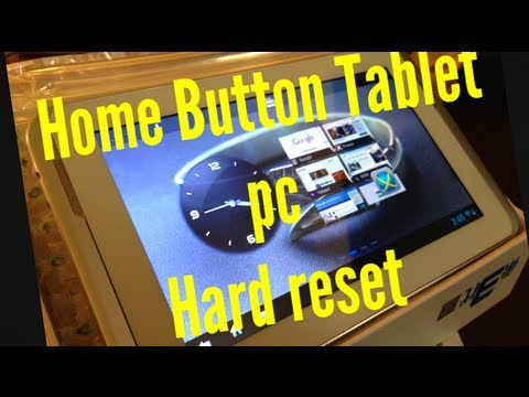 how to android tablet pc hard reset reboot  restore with home button