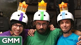 Use Your Head Challenge ft. Vsauce by : Good Mythical Morning