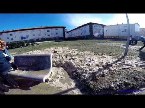 LAREDO ARRASADO | ANTES Y DESPUÉS DEL TEMPORAL | FEBRERO DE 2014