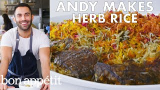 Andy Makes Herb Rice with Scallions and Saffron | From the Test Kitchen | Bon Appétit