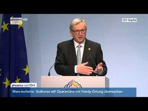 G7-Gipfel in Elmau: PK mit Jean-Claude Juncker und Donald Tusk am 07.06.2015