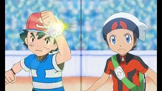 Pokemon Battle USUM: Ash Vs Brendan (Z-Move Vs Mega Evolution)