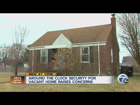 Who is paying for around the clock security on a Detroit home?
