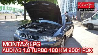 Montaż LPG Audi A3 1.8T 180KM 2001r w Energy Gaz Polska na auto gaz KME
