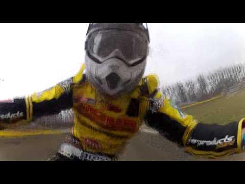 Speedway Practice Ostrow Wlkp 06.03.2014 GoPro Hero 2 żużel