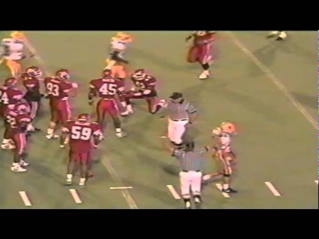 Oregon FB Juan Shedrick 14 yard run vs. Utah 9-21-1991