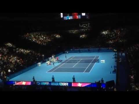 Roger Federer Match Point vs Raonic - 2014 ATP World Tour Finals