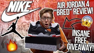"""RETRO NIKE AIR JORDAN 4 """"BRED"""" EARLY UNBOXING AND REVIEW! 