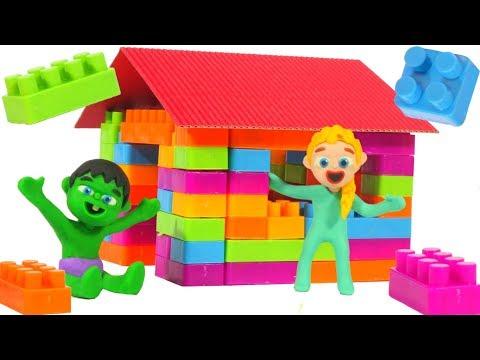 SUPERHERO BABIES PLAY WITH BUILDING BLOCKS ❤ Superhero Babies Play Doh Cartoons For Kids