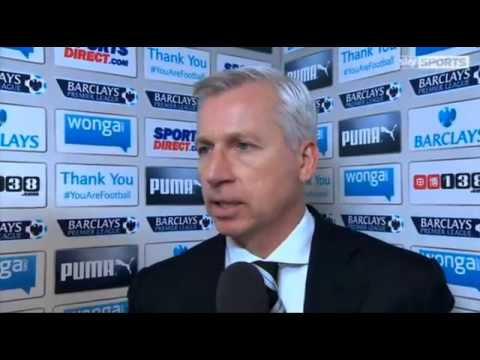 Newcastle Utd 0-2 Manchester City - Alan Pardew Interview - 12/01/14