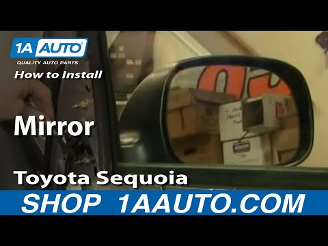 How To Install Replace Side Rear View Mirror Toyota Sequoia 01-04 1AAuto.com
