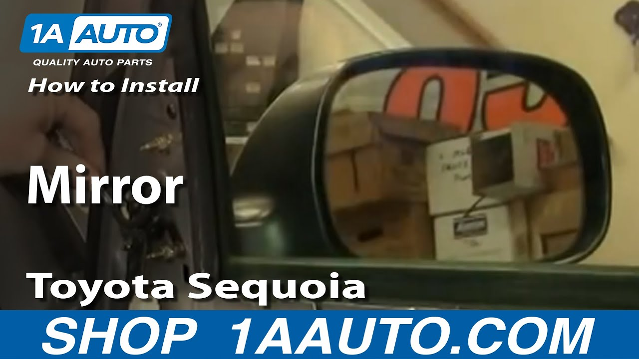 how to install replace side rear view mirror toyota sequoia 01 04. Black Bedroom Furniture Sets. Home Design Ideas