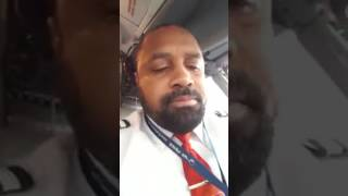 Disturbed Negro Airline Pilot Sings Negro Spirituals While Piloting Hundreds