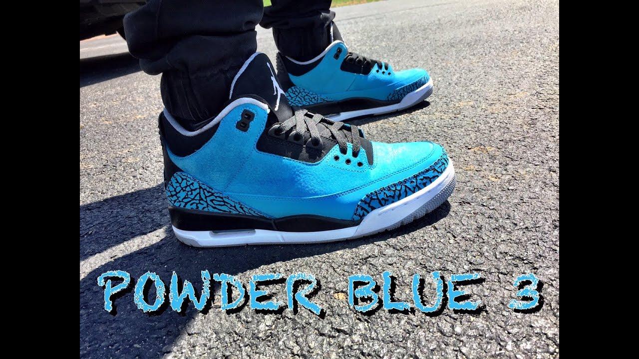 Powder blue jordans