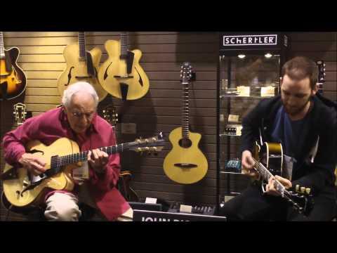 John Pisano and Mark Hadley - Eastman Guitar Booth NAMM 2012