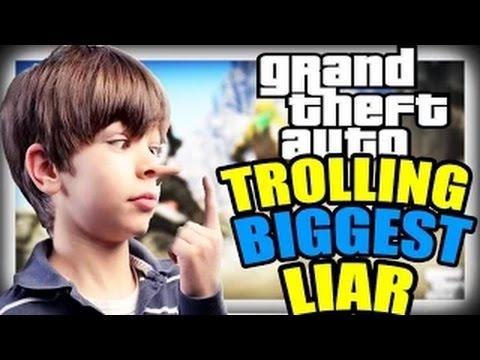 TROLLING THE BIGGEST LIAR ON GTA 5 ONLINE (GTA 5 TROLLING!)