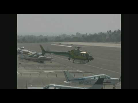 LASD Helicopter N970SD - Santa Monica Airport - 082309