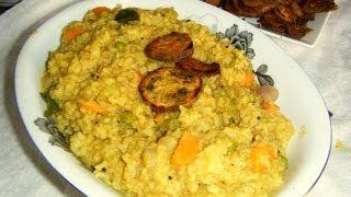 Sambar saadham recipe in Tamil [ Bisebelebath ]