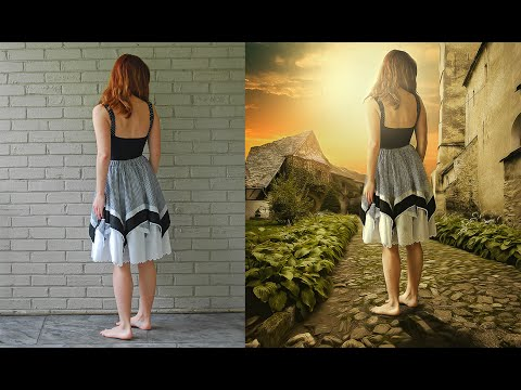 Photoshop Manipulation Tutorials Photo Effects | Walking Girl