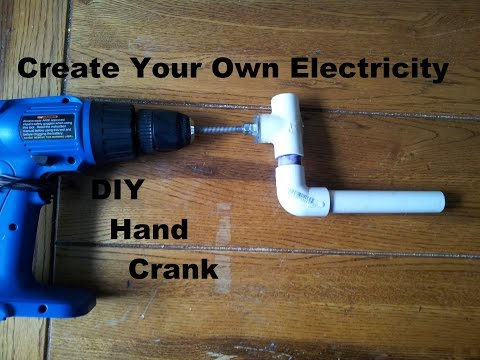 Drill used as Generator / DIY Hand Crank Step by Step build