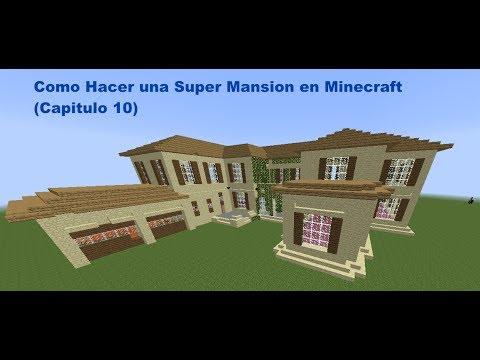 como hacer una super mansion moderna en minecraft