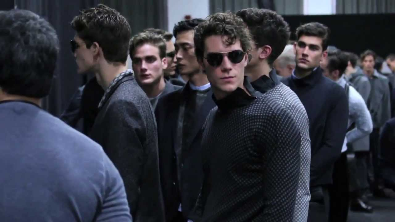 Men Fashion Show Backstage Winter Men s Fashion Show