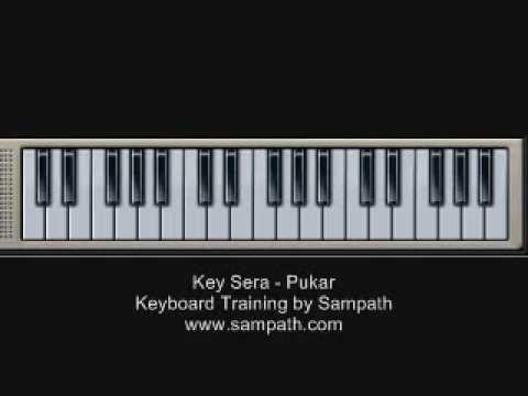 Key Sera Sera - Pukar - Piano   Keyboard Training video